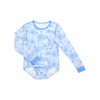 LT-113-YDC-08 Snow Flake Long Sleeve Christmas Jumpsuit winter clothing baby