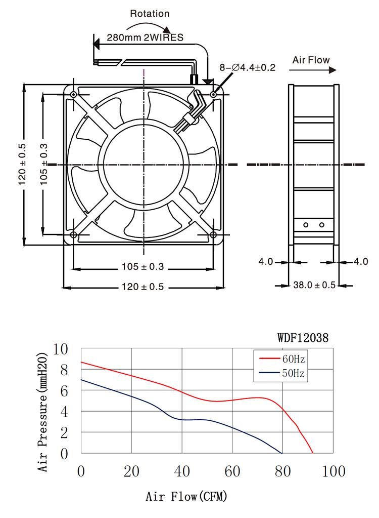 120 мм высокий воздушный поток 120x120x38 вентилятор 110v 120mm Ac вентилятор 220v осевой вентилятор 4 дюйма 12038