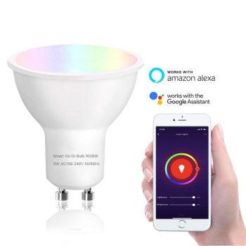 GU10 WiFi Smart Light Bulb Led Spotlight Compatible with Alexa and Google Home LED RGBW 2700k Dimmable