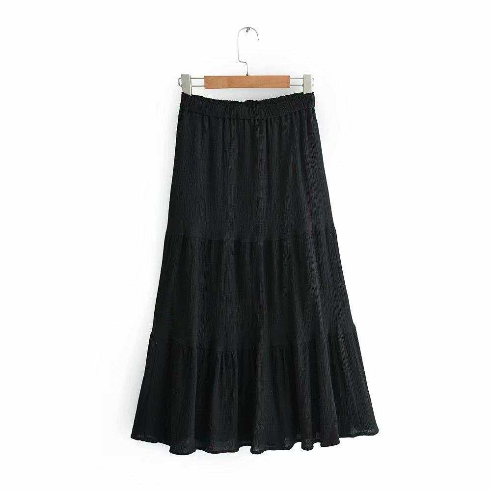 diseño novedoso varios tipos de hermosa en color Venta al por mayor faldas largas bonitas-Compre online los ...