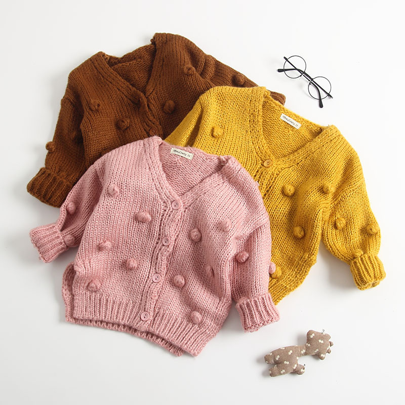 2019 New Autumn And Winter Children Clothing Girls Cotton Fashion Girls Cardigan Sweater Baby Girl Infant Cardigan, As picture