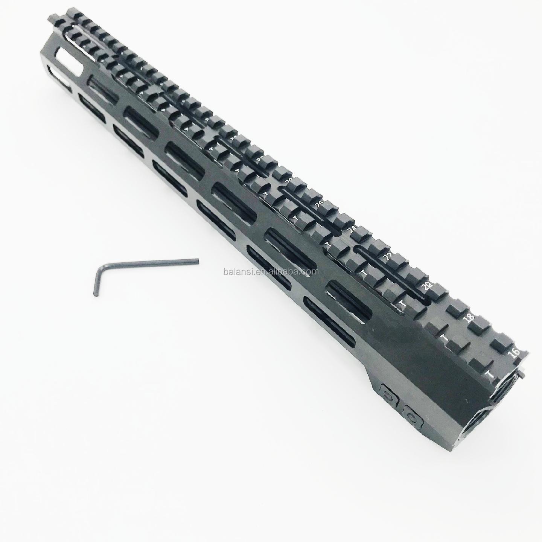 12 inch MLOK Free Float Super Slim ar 15 Handguard Quad Rail W/ Nut Fit .223 for ar15 m4 m16, Black