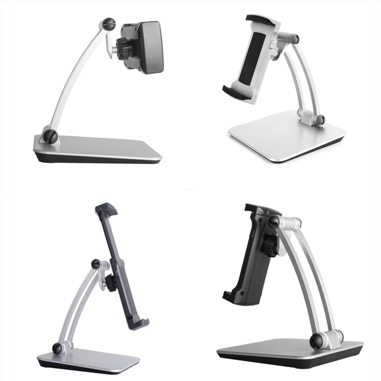 260mm Stretch 12.9inch Ergonomic Aluminum Alloy 360 Rotating Universal Kitchen Tablet Holder Stand for ipad pro
