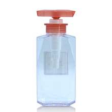 ECO Friendly Recycle Transparent Plastic Shampoo Bottle Cosmetic Packaging 300ml Plastic PETG Pump Bottle