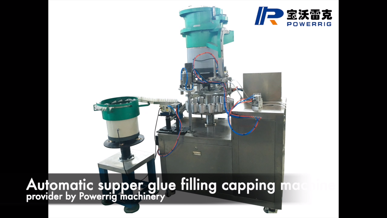 Automatic high speed cyanoacrylate adhesive glue filling machine for high viscosity 502 glue