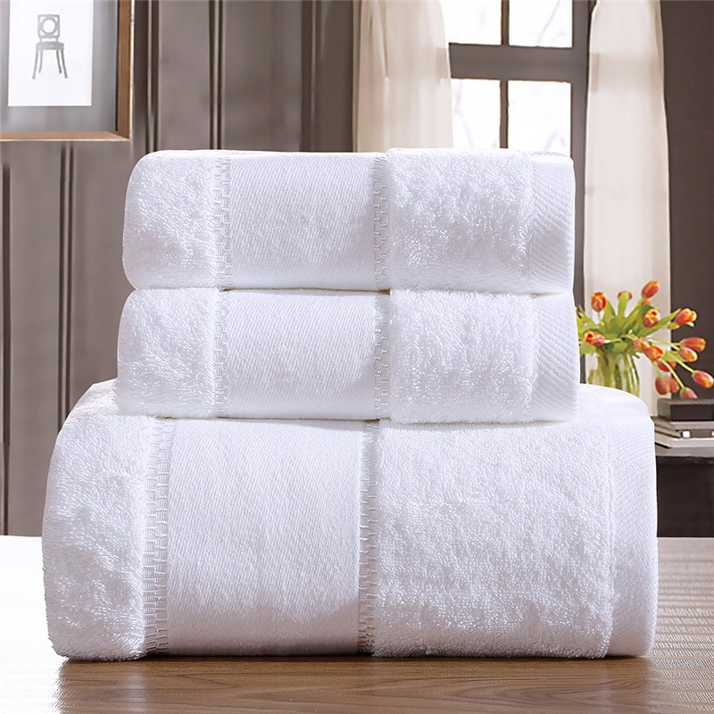 cheap fragrance wiping fold raw towel embroidered stripe cotton body towel