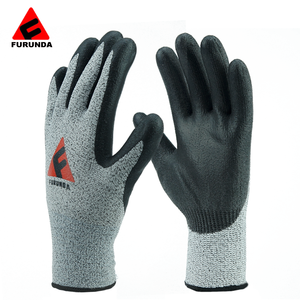 Top quality Nitrile dipped nylon knit work gloves with mighty grips EN388 safety work hand protection stainless steel anti cut