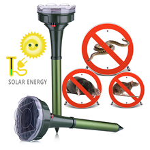 2019 New Outdoor 2 Pacchetto di Vibrazione Solar Powered Snake Mole Repeller Animale Gopher e Arvicola Chaser Repellente Per Le Zanzare
