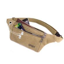 Женская и мужская многофункциональная сумка с карманами для активного отдыха, сумка-мессенджер, поясная сумка для мобильного телефона, чер...(Китай)