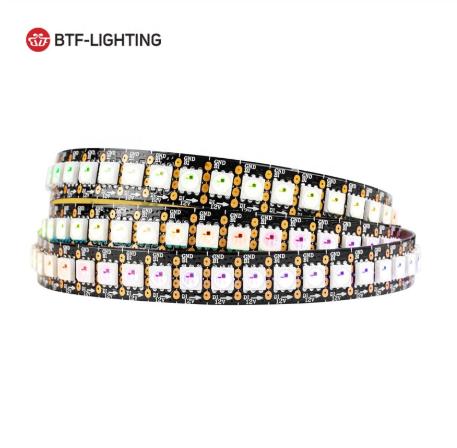 BTF Lighting Brand DC12V WS2815 30 60 144 Pixels IP30 65 67 Addressable RGB Led Strip Light