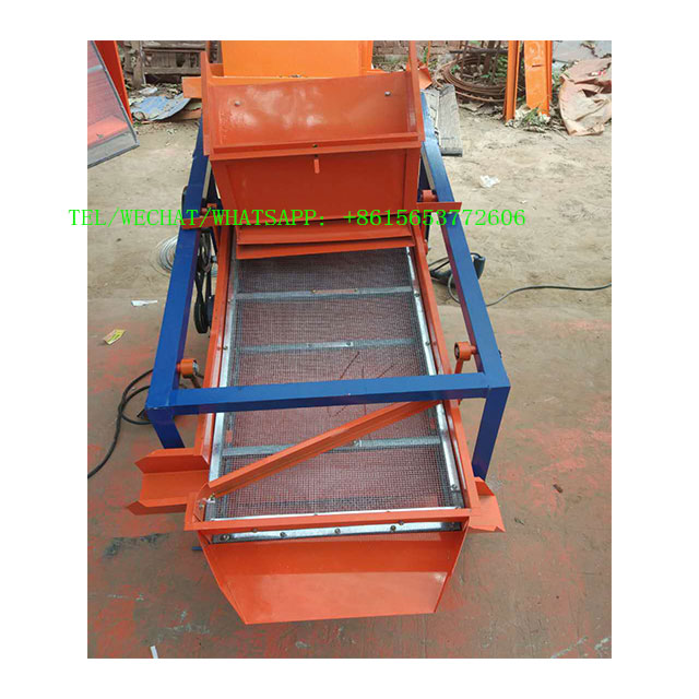 Small grain cleaner dry particle removal equipment   Vibrating grain screen