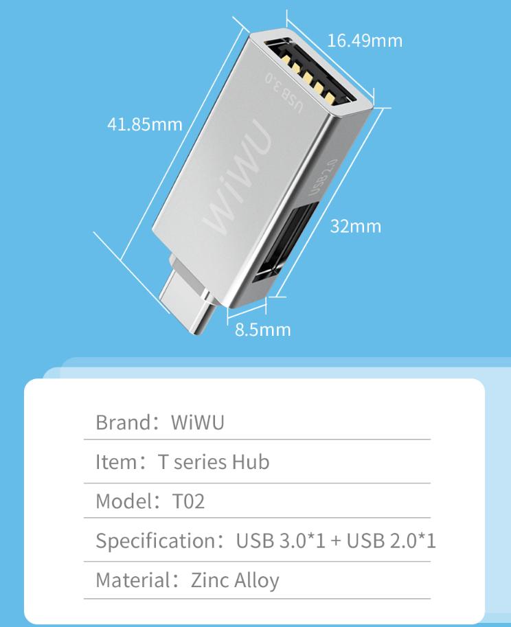 WIWU T02 type C 转接头 (https://www.wiwu.net.cn/) 手机转接器 第7张