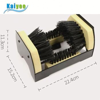 Durable wooden boot scrubber brush cleaning shoe brush horse hair