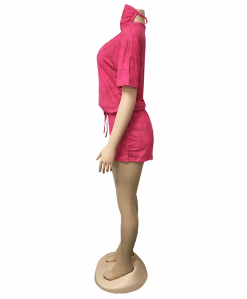 MD-2082634 Baru 2020 Wanita Trendi Celana Pendek dan Lengan Pendek T Shirt Dua Sepotong Set