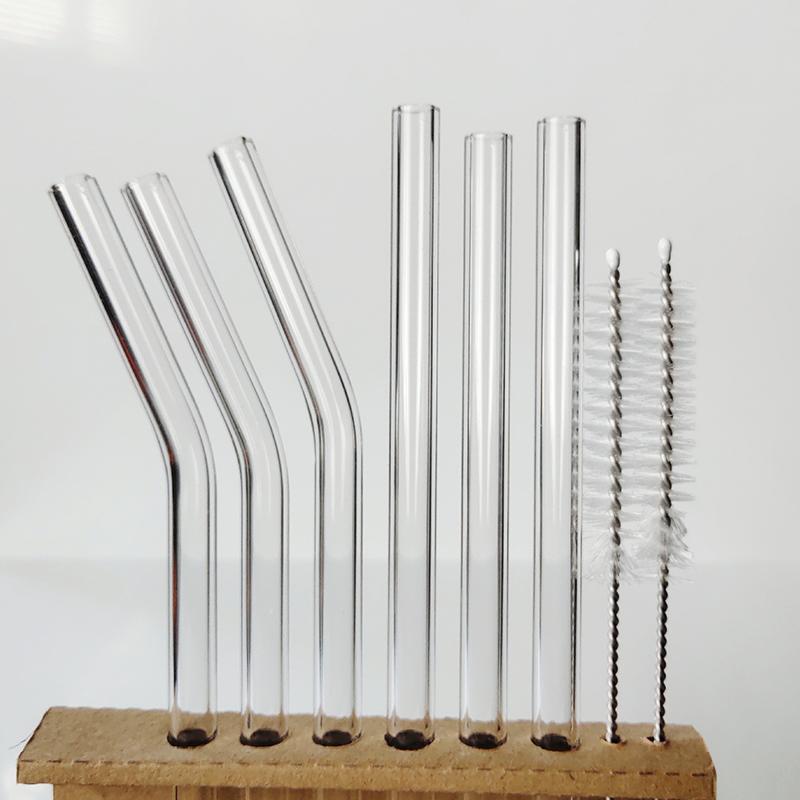 High borosilicate glass drinking  straws eco friendly