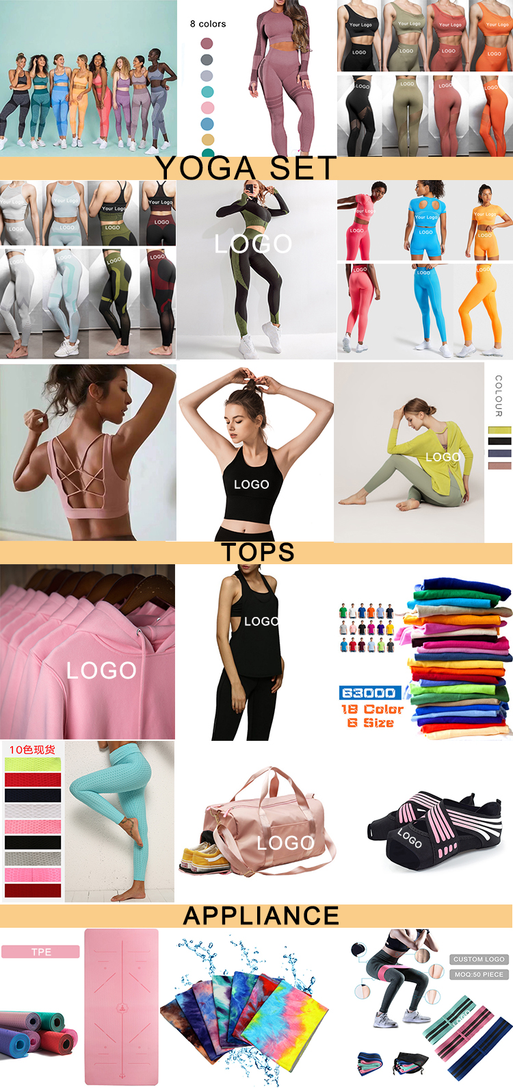 New Fashion Custom Print Fitness Yoga Wear Sports Workout Fitness Women Yoga Suit