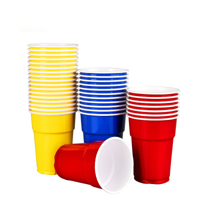 Disposable pp 200ml plastic party beer glass cheep cup
