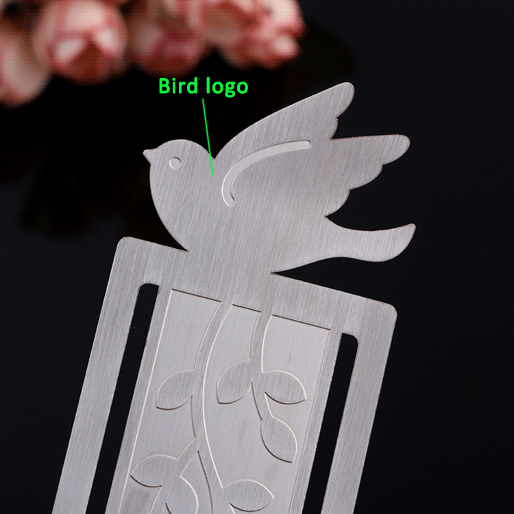 Wholesale cheap silver Christmas gifts metal custom bookmarks for book