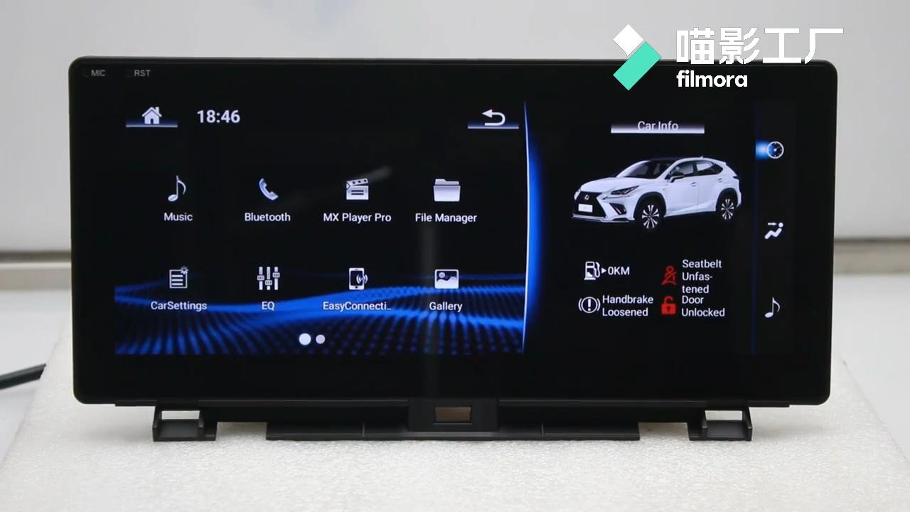 12.3 אינץ אנדרואיד 9.0 אוקטה Core אוטומטי רדיו סטריאו Headunit GPS ניווט לרכב וידאו DVD לקסוס RX300 RX450h F ספורט 2016-2019