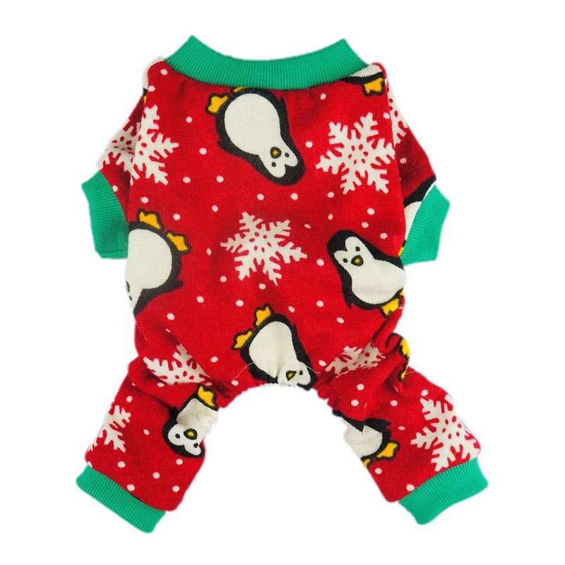 Pet Clothes Christmas Day Outfit Four-legged Christmas Pajamas Pets Pajama Jumpsuit