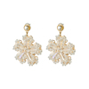 Yttria Wholesale New Designs Pearl Earring Ladies Fashion Crystal Earrings luxury designs zircon flower earrings