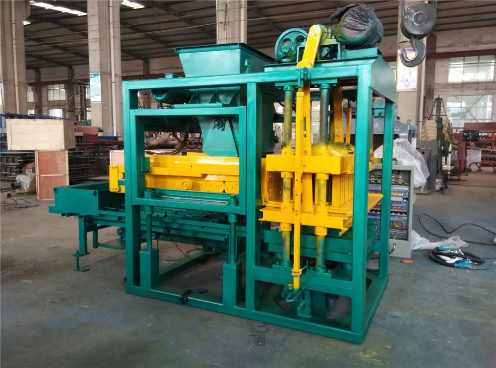 QT4-25 New Condition fully semi automatic concrete cement sand Raw Material brick block making machine maker with high output