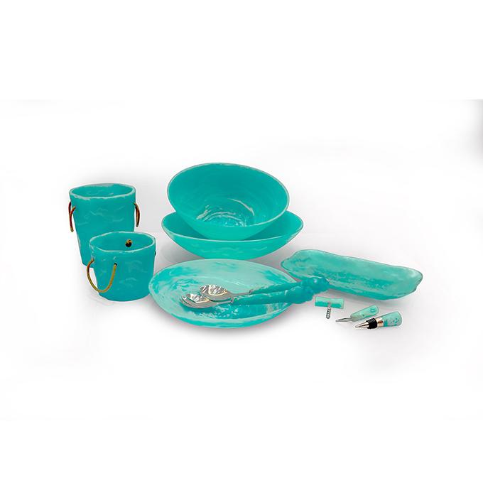Suanti wholesale restaurant homeware stainless steel resin tableware golden dinner plates dinnerware plate sets