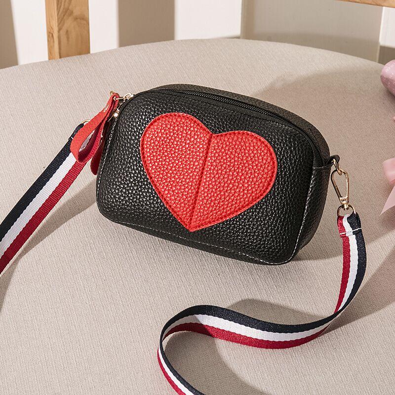 Сумка на плечо для девушек-подростков 2020 маленькая сумочка для сотового телефона с широким ремешком Женская сумка через плечо сумочка из мя...(Китай)