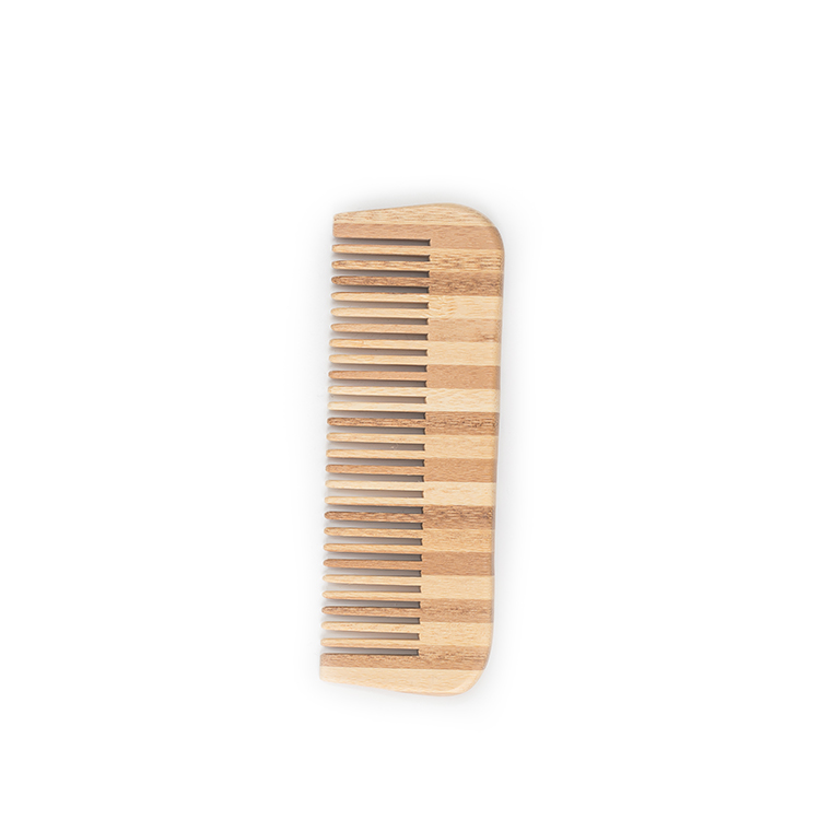 Custom small label small bamboo hair comb