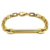 Custom Jewelry 18K Gold Plated Bar Engravable Statement Bracelets Stainless Steel Small Link Chain Bracelet for Men Women