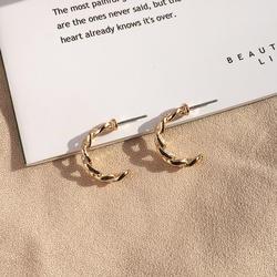 Minimalist Jewelry Gold Chain Link Earrings Small