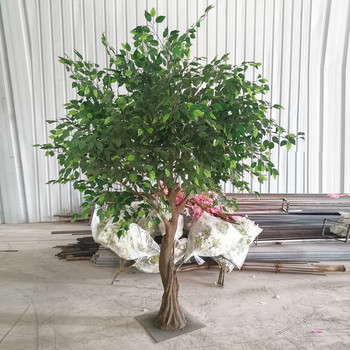 Green Artificial Bonsai Lyrata Tree With Green Ficus Leaves Faux Plants For Sale View Big Nature Green Banyan Ficus Tree Songtao Product Details From Guangzhou Songtao Artificial Tree Co Ltd On Alibaba Com