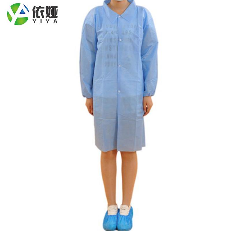 Non woven polypropylene or SMS disposable lab coat custom