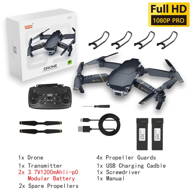 WIFI FPV Профессиональный Квадрокоптер мини-Дрон с широким углом HD 4K 1080P камера режим удержания высоты VS E58 GD89 дроны камеры игрушки(Китай)