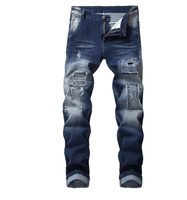 Fashion Street Style Cool Destroyed Pants Jeans Men Denim Trousers Baggy Ripped Jeans