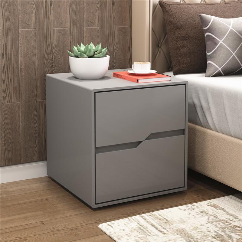 Basit tarzı açık lüks basit modern gri Nordic kabine boya yatak odası katı ahşap depolama küçük depolama dolabı