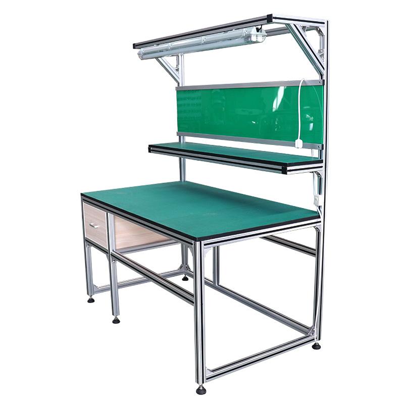 Prilagođena radionica aluminijski profil Workbench stol ladica rasvjeta za medicinsku radionicu ili rasvjetu proizvodnje