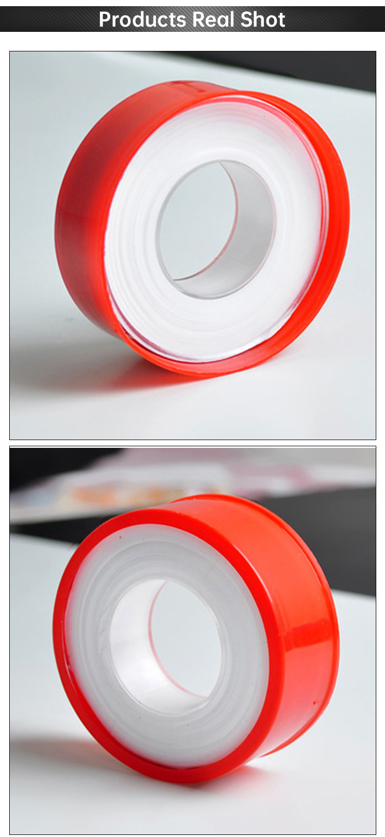High Density White Good Quality Gas Pipe High Pressure PTFE Thread Seal Tape