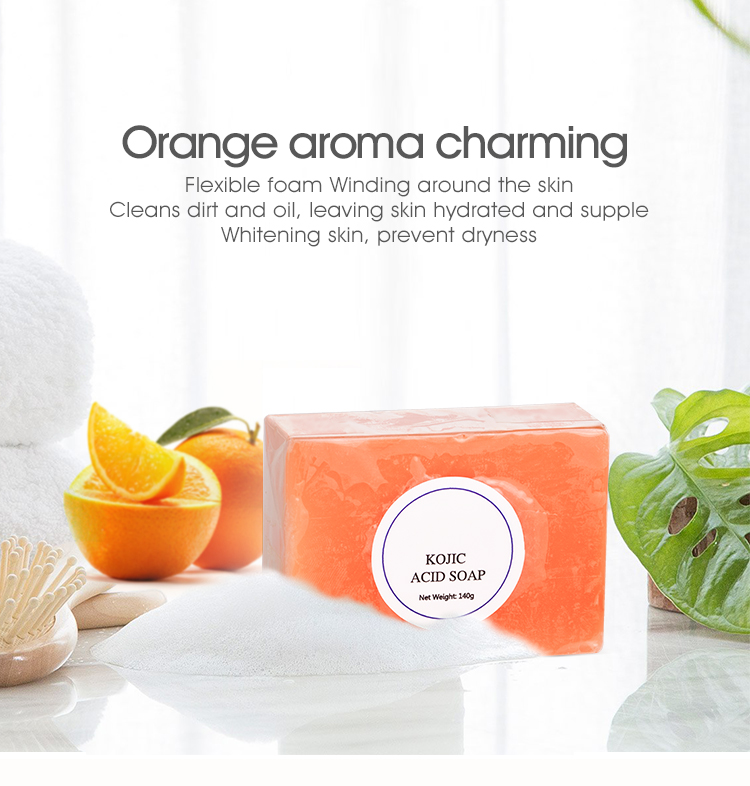 3 days delivery Wholesale 150g bath soap Natural organic Whitening handmade Kojic Acid Soap for face and body