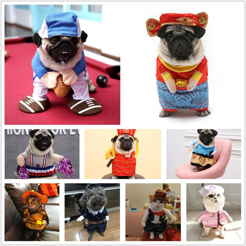 New Arrival Pets Dressed Dogs Cats Horseback Riding  Funny Standing Christmas Halloween Clothes