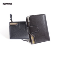 Kimbarry leather men short wallet card wallet coin purse men wallet