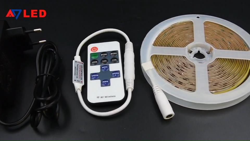 Decorative Lighting Luces LED Tira Fita LED High Density 5M Per Set 528Leds/m 12V 24V Dotless COB LED Strip Kit