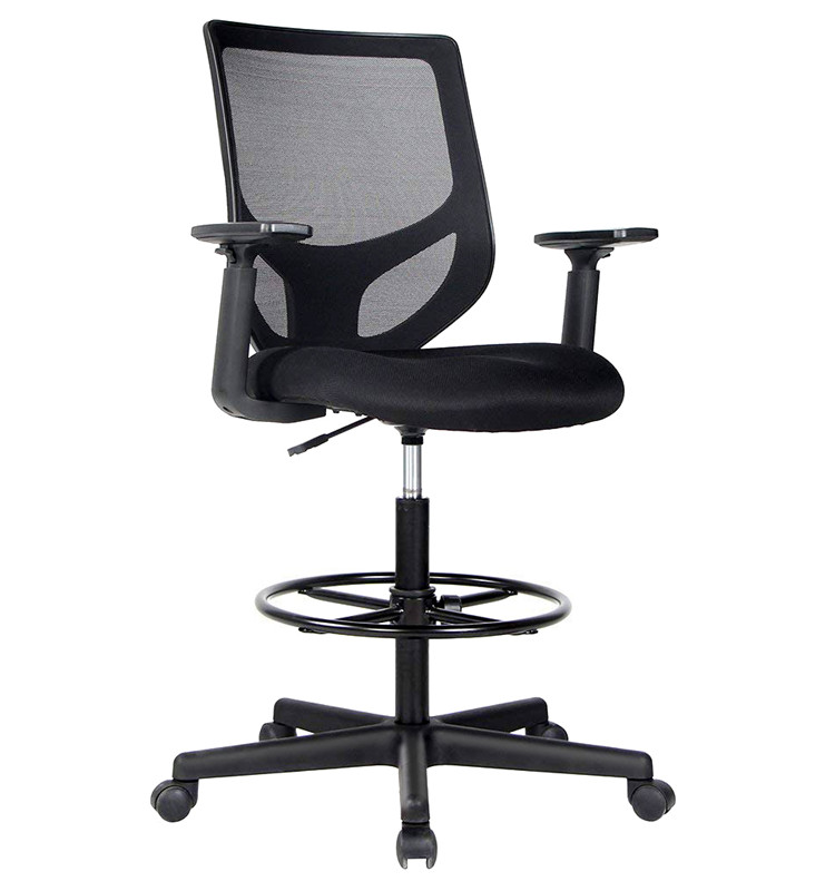 USA STOCK Drafting Chair Tall Office Chair for Standing Desk,Full mesh office chair