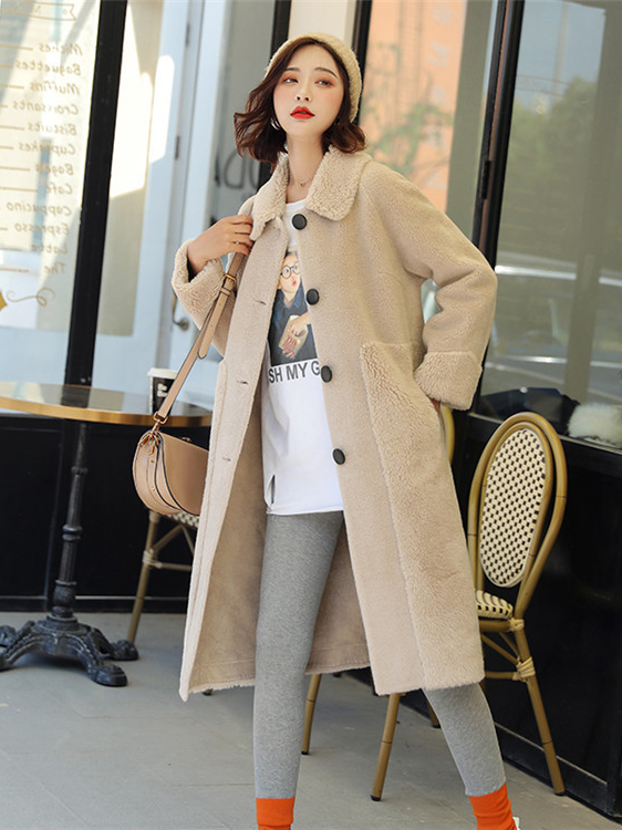 China Supplier english style women wool coat Women's long wool blouse Wool coat