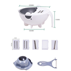 9pcs the 9 in 1 multifunctional magic manual shredder rotate chopper slicer vegetable cutter with kitchen drain basket