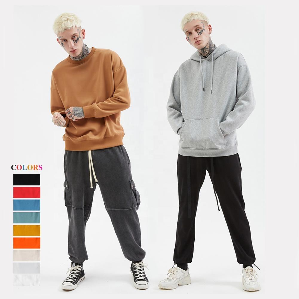 로고 후드 남성 100% 코튼 남성 크루 넥 스웨터 기본 풀오버 까마귀, 일반 대형 Crewneck 스웨터