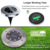 8LED Solar Buried Light 1pcs Waterproof Underground Lamp Garden Floor Deck Lights for Yard Driveway Terrace Stairs Lawn Lighting