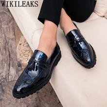 Броги, лоферы с кисточками, мужская элегантная Свадебная обувь 2020, Костюмные туфли, мужские оксфорды, черная официальная обувь для мужчин из...(China)