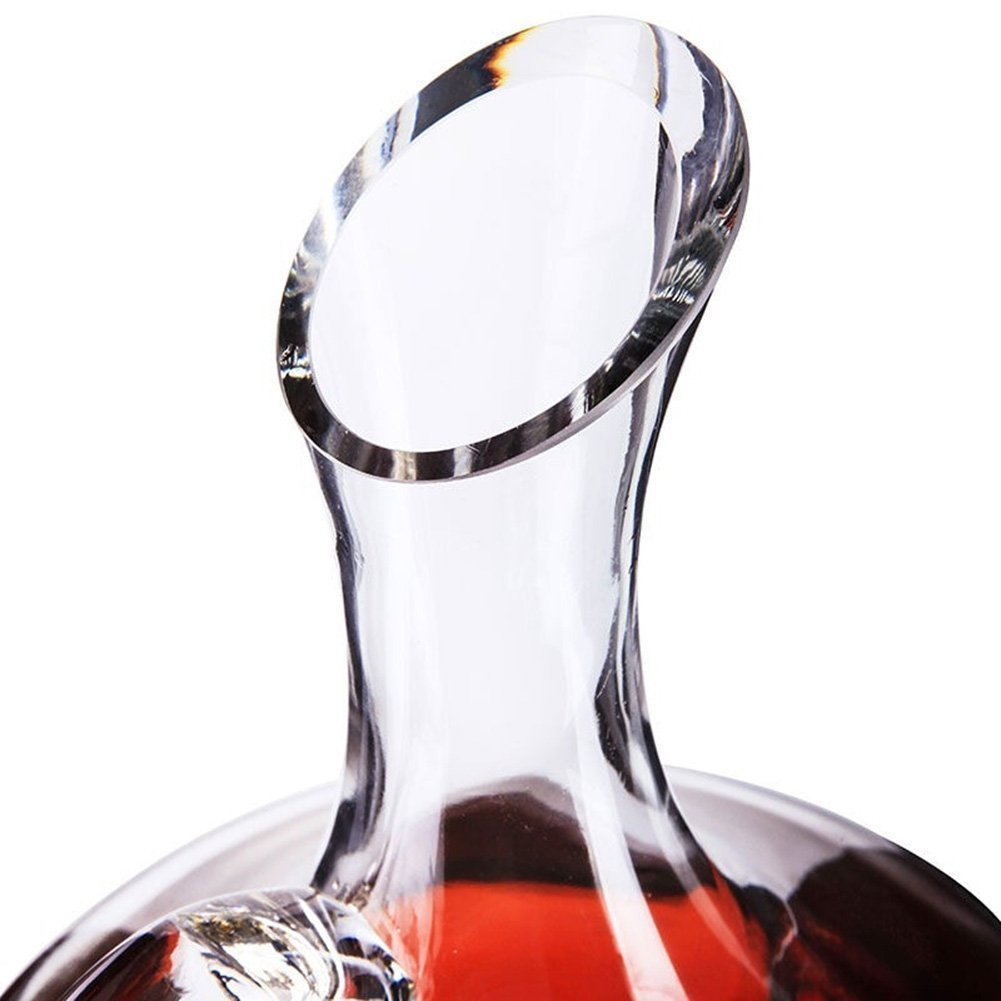 Customized 1500 ml handmade crystal glass wine decanter for the home and barware