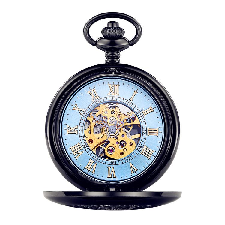 Relógio de bolso de quartzo de liga de luxo fashion japão movt led